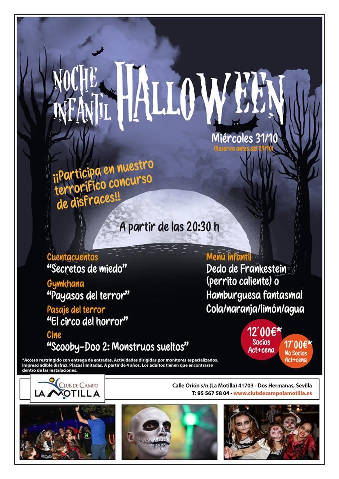 Noche infantil Halloween en Club de campo La Motilla 2018