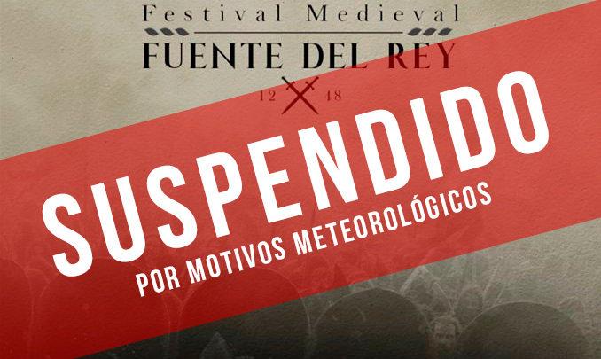 Photo of Suspendida la VI Recreación Medieval de Fuente del Rey por motivos meteorológicos