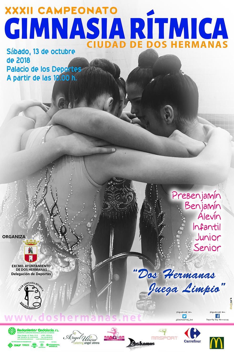XXXII Campeonato Gimnasia Rítmica Ciudad de Dos Hermanas en el Palacio de los Deportes