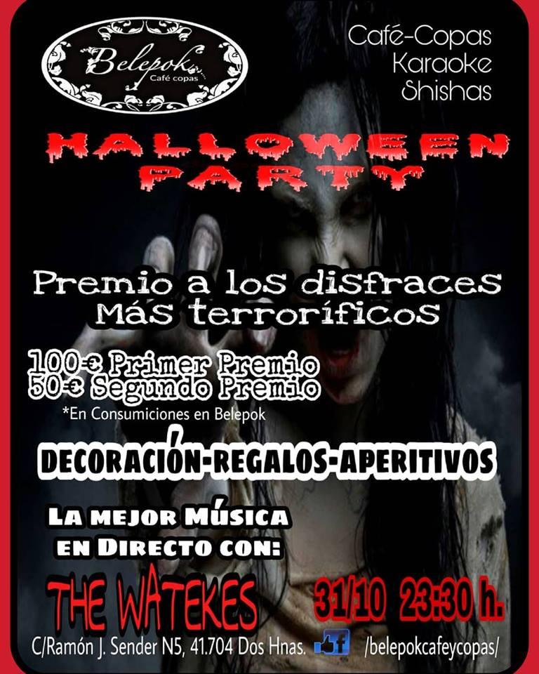 Cartel de Halloween en Belepok en Dos Hermanas
