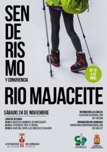 Cartel Senderismo y Convivencia Río Majaceite organizado por los Ayuntamientos de Dos Hermanas y Las Cabezas