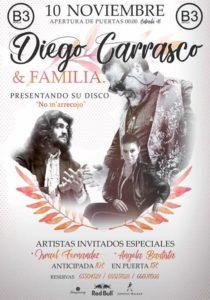 Diego Carrasco en B3 Sevilla presenta su nuevo disco