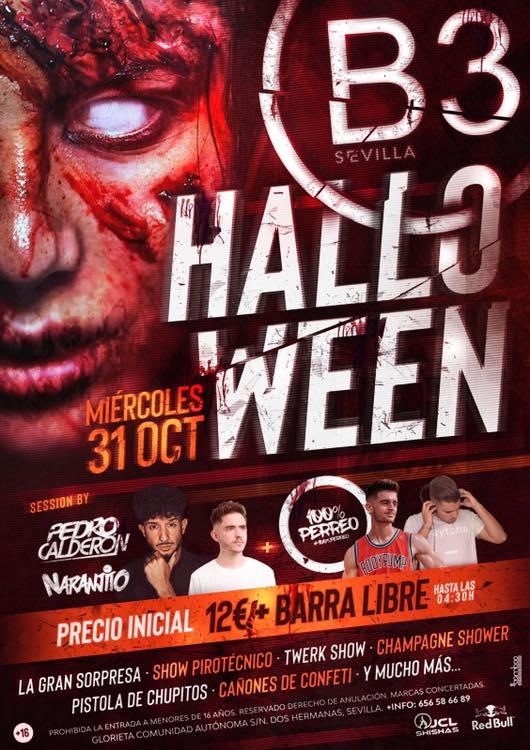 Noche de Halloween en B3 Sevilla Dos Hermanas