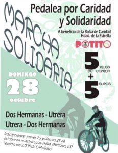 Marcha Solidaria Pedalea por Caridad y Solidaridad organizada por la Operación Patito de la Hermandad de la Estrella