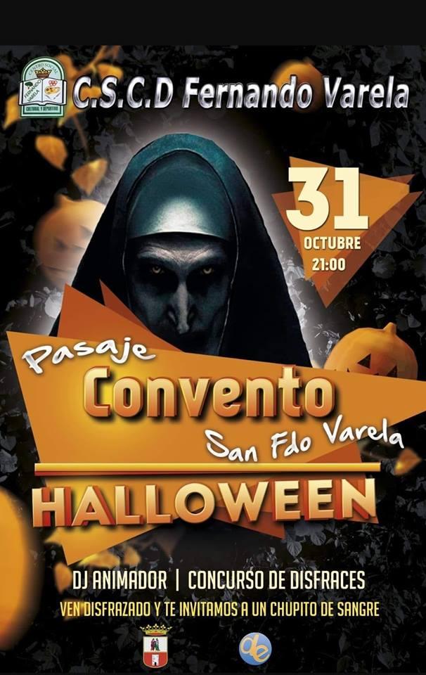 Pasaje del Convento en el CSCD Fernando Varela en Halloween 2018
