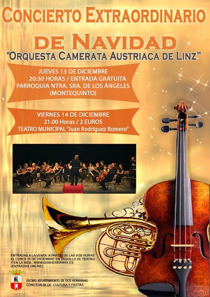 """Concierto Extraordinario de Navidad """"Orquesta Camerata Austriaca de Linz"""" 2018"""