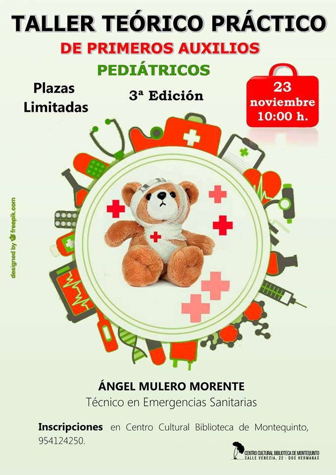 Taller teórico-práctico de 'Primeros auxilios pediátricos' para la 3ª edad en la Bibliioteca de Montequinto