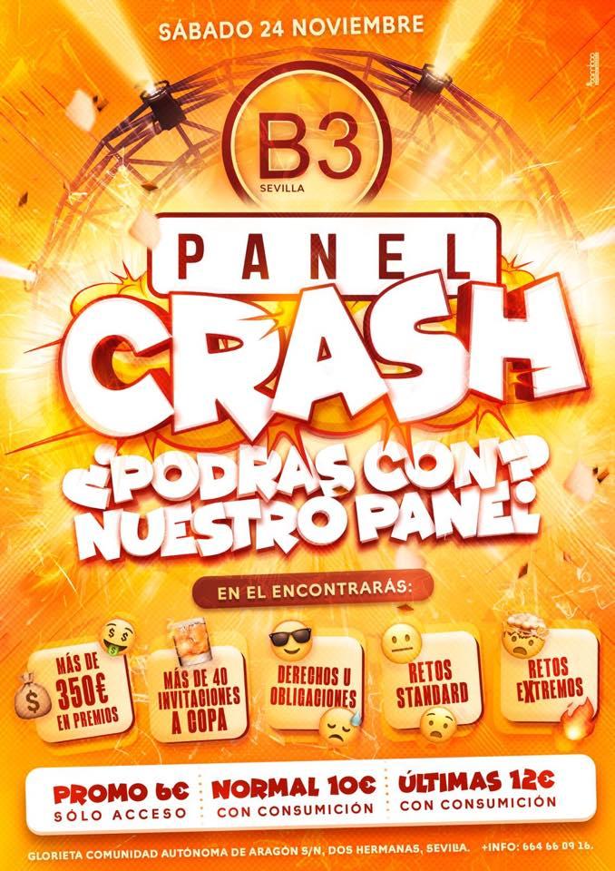 Panel Crash en B3 Sevilla en Dos Hermanas