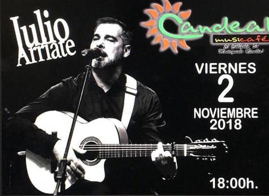 Julio Arriate en Sala Candeal Musicafe en Montequinto