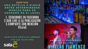 Cartel Nikelao Flamenco en Sala E