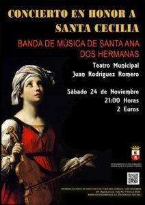 Concierto en honor a Santa Cecilia por la Banda musical Santa Ana