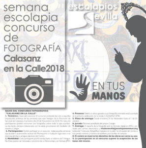 """Concurso de fotografía """"Calasanz en la Calle 2018"""""""