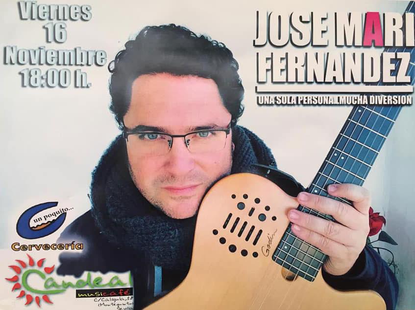 Jose Mari Fernández en sala Candeal Musicafe