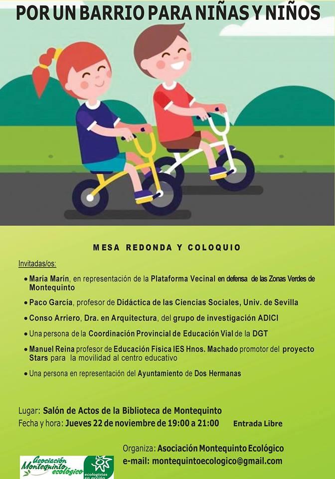 Mesa Redonda-coloquio Por un barrio para niños y niñas
