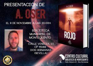 Presentación del libro Rojo del autor A. Oser en la Biblioteca de Montequinto
