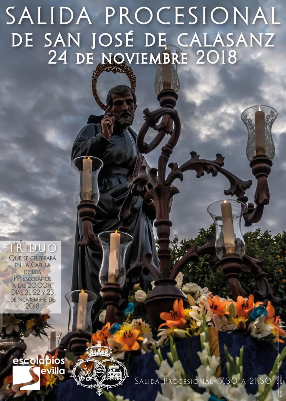 Procesión, concurso de fotografía y triduo san José de Calasanz 2018