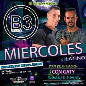 Miércoles Latino en B3 Sevilla