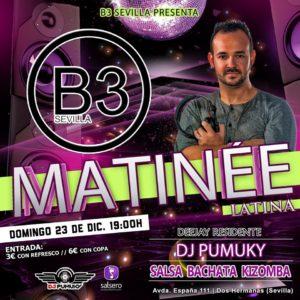 B3 Matinée Latina con Dj Pumuky