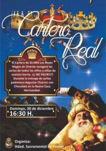 Cartero Real en la Hermandad Sacramental de Pasión el domingo 30 de diciembre