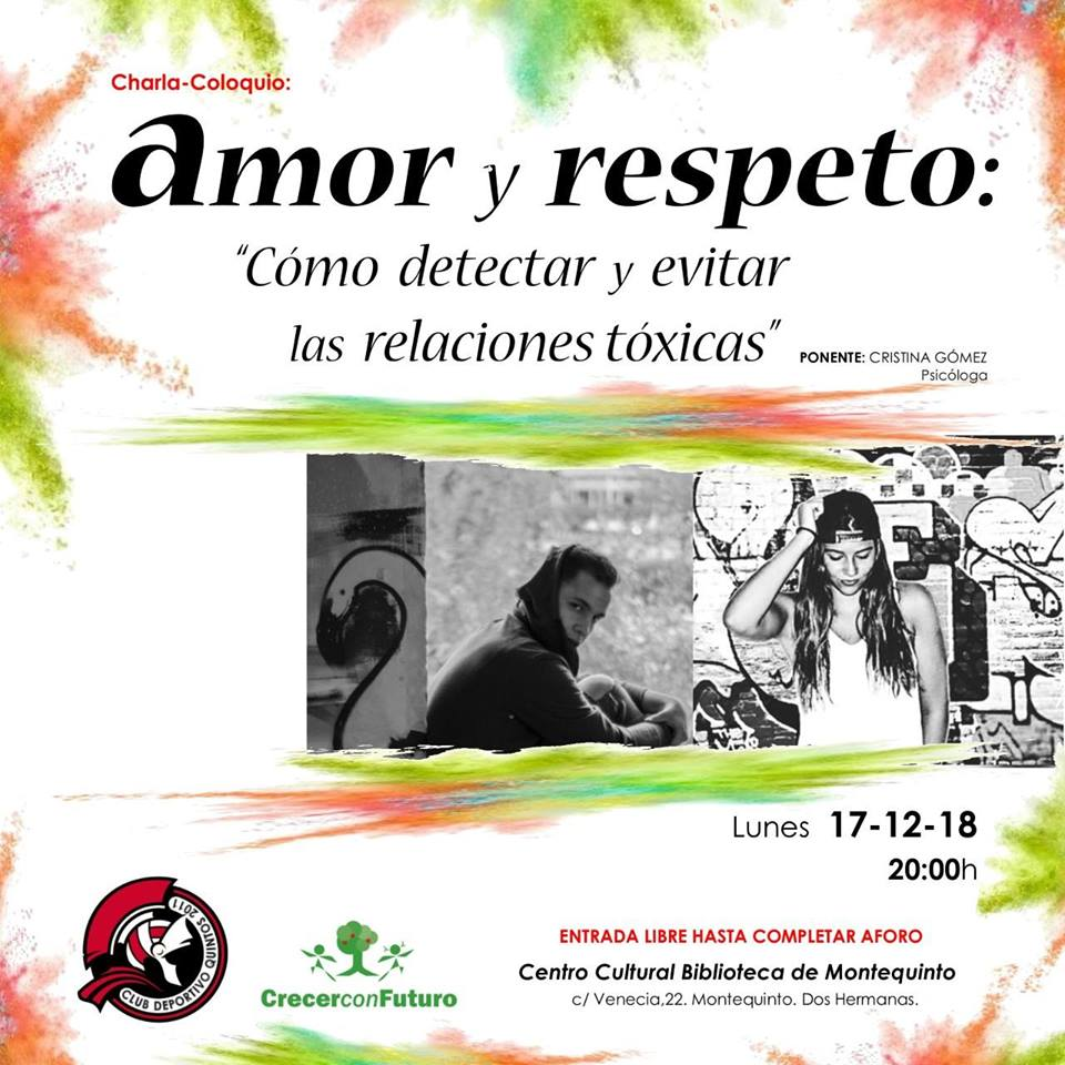 Charla amor y respeto en el Centro Cultural Biblioteca de Montequinto