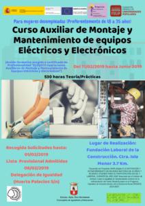 Curso montaje y mantenimiento de equipos eléctricos y electrónicos solo para mujeres