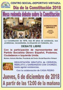 Debate sobre la Constitución de 1978 en el CSD Vistazul