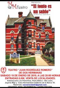 El tonto es un sabio en el Teatro Municipal Juan Rodríguez Romero