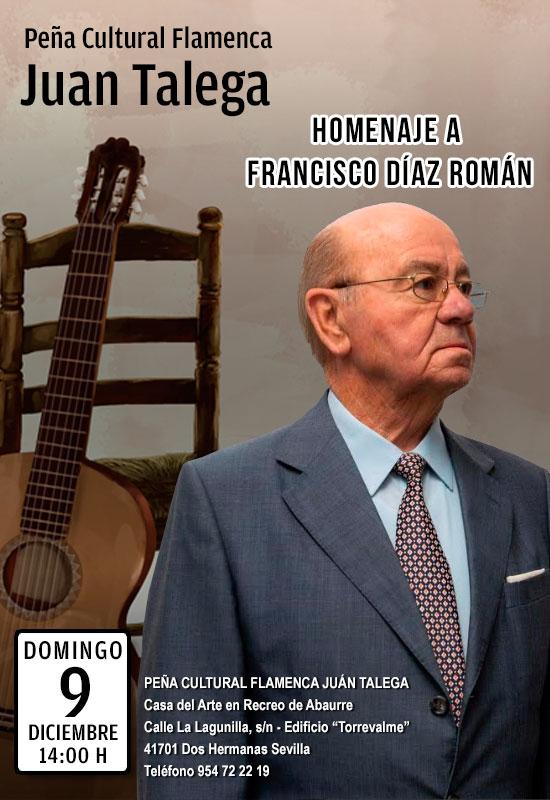 Homenaje a Francisco Díaz Román en la Peña Cultural Juan Talega