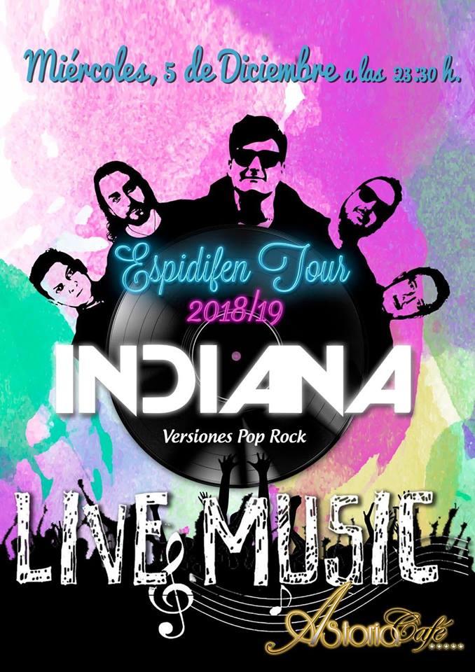 Grupo Indiana y Rock Label en Astoria