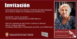 Recuerdos de Irma exposición en La Almona