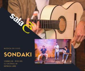 Sondaki en Sala E el último viernes de 2018