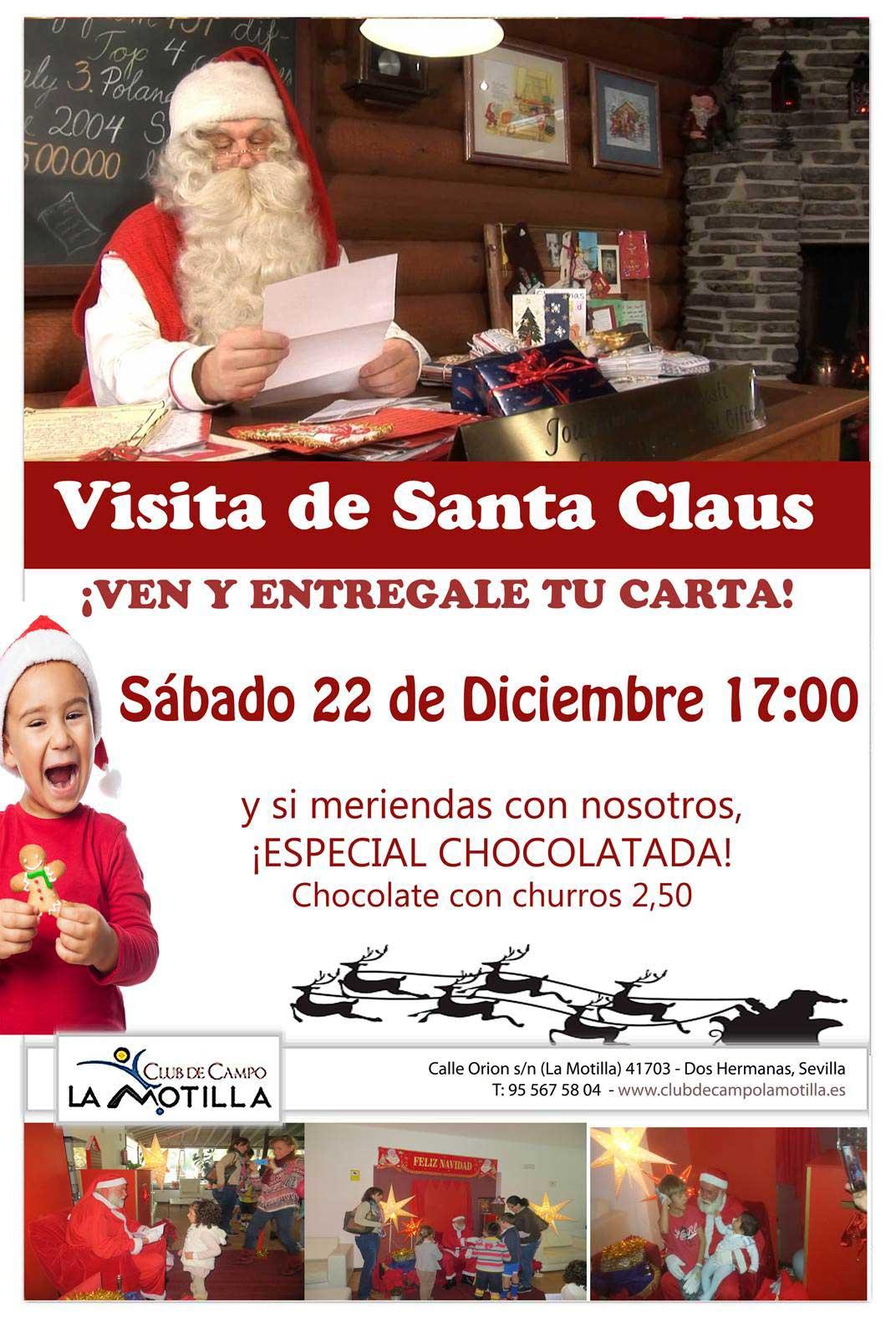 Visita de Santa Claus en el Club de Campo La Motilla