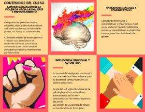 Actividades del curso de herramientas contra la violencia de género impartido por la Asociación EMEM