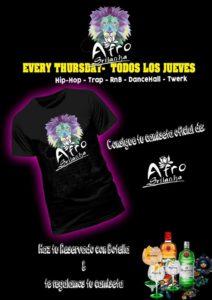 Camiseta de AfroSrilanka con tu reservado más botella