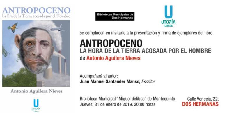 """Photo of Presentación del libro """"Antropoceno"""" en la Biblioteca de Montequinto"""