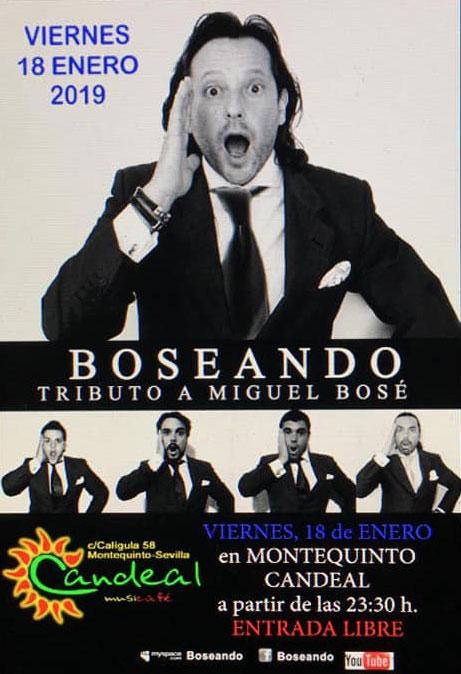 Boseando Tributo a Miguel Bosé en Candeal Musicafé