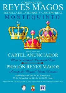 Cartel Cabalgata de los Reyes Magos 2019 en Montequinto Dos Hermanas