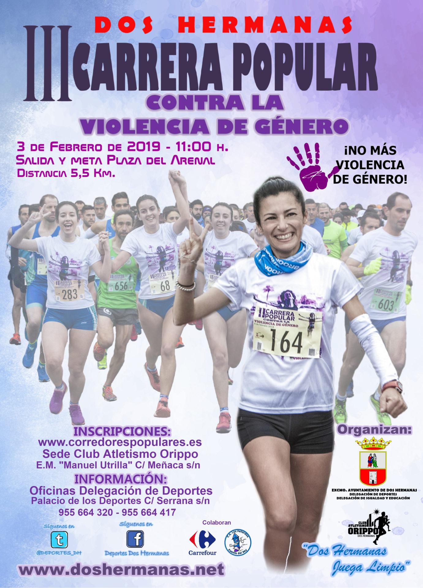 III Carrera Popular contra la Violencia de Género organizada en Dos Hermanas