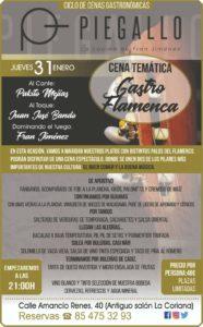 Cena temática flamenca en Piegallo Catering