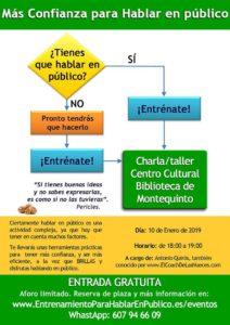 Charla / taller Confianza para hablar en público impartido por Antonio Quirós