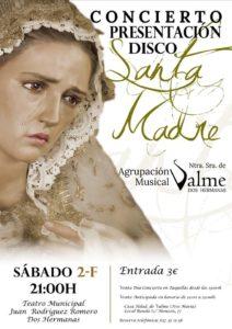 Cartel del concierto de presentación del disco Santa Madre de la Agrupación Musical Nuestra Señora de Valme