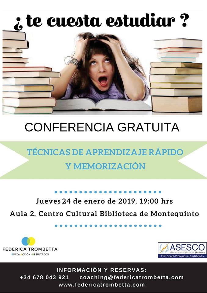 Conferencia técnicas de aprendizaje y memorización en la Biblioteca de Montequinto