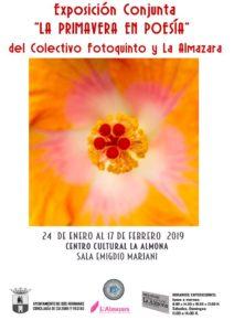 Exposición La primavera en poesía en el Centro Cultural La Almona