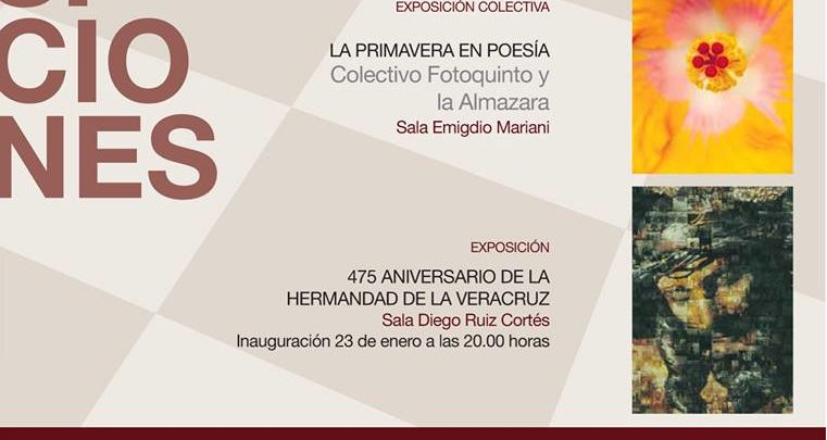 Exposiciones en Centro Cultural la Almona de 24 de enero al 17 de febrero de 2019