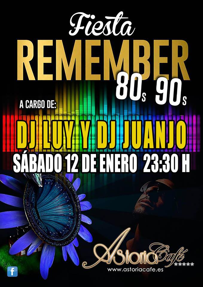 Fiesta Remember 80s y 90s en Astoria Café