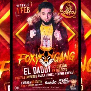 El Daddy de Foxy Gang en Sala Sakra