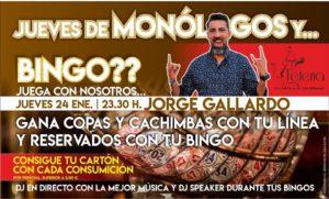Jueves de monólogos y bingo en La Teteria de la Motilla