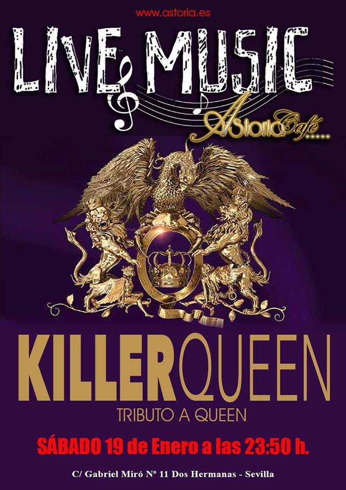 KillerQueen tributo a Queen en Astoria Café