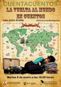 La Vuelta al Mundo por Jhon Ardila en el Centro Cultural Biblioteca de Montequinto