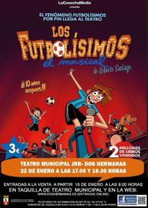 Los Futbolísimos El Musical en el Teatro Municipal de Dos Hermanas